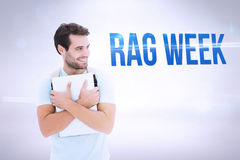 Rag week against grey background Royalty Free Stock Photography