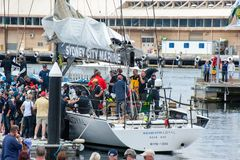 Ragamuffin Loyal runner up in the Sydney to Hobart Yacht Race royalty free stock photo