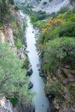 Raganello Gorges da ponte do diabo, Calabria (Itália) imagem de stock