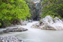 Raganello Gorges and Devil bridge, Calabria (Italy) Stock Photo