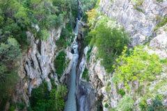 Raganello klyftor från jäkelbron, Calabria (Italien) Royaltyfri Foto