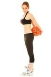 Ragazza #10 di pallacanestro fotografia stock libera da diritti