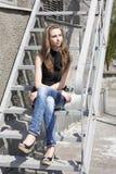 Ragazza abbastanza bella del brunette Fotografia Stock