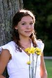 Ragazza abbastanza teenager Fotografie Stock Libere da Diritti