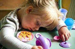 Ragazza addormentata Fotografie Stock Libere da Diritti