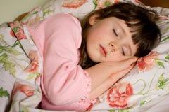 Ragazza addormentata Fotografie Stock