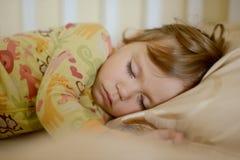 Ragazza addormentata del bambino Fotografia Stock Libera da Diritti