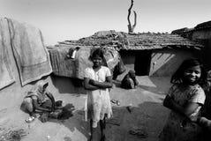 Ragazza adolescente in India rurale Fotografie Stock Libere da Diritti
