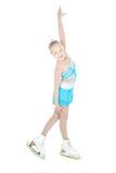 Ragazza adolescente pattinare di ghiaccio Fotografia Stock