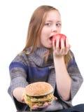 Ragazza affamata Fotografia Stock Libera da Diritti