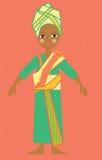 Ragazza africana in costume variopinto tradizionale Fotografia Stock