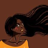 Ragazza africana sexy di modo Fotografia Stock