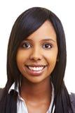 Ragazza africana sorridente Immagini Stock Libere da Diritti