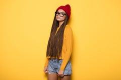 Ragazza afroamericana alla moda Fotografia Stock