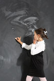 Ragazza al consiglio scolastico Fotografia Stock Libera da Diritti