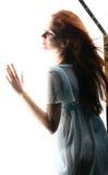 Ragazza all'indicatore luminoso Fotografia Stock Libera da Diritti
