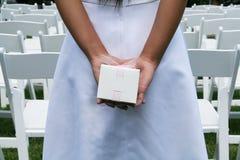 Ragazza alla cerimonia nuziale Fotografia Stock Libera da Diritti