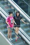 Ragazza alla moda al centro commerciale di Livat, Pechino, Cina Fotografie Stock