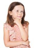 Ragazza alla moda del brunette Fotografie Stock