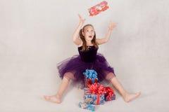 Ragazza allegra Fotografia Stock