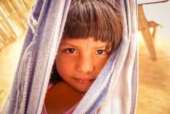 Ragazza in amaca in Bolivia Fotografia Stock Libera da Diritti