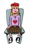 Ragazza ammalata con una febbre illustrazione vettoriale