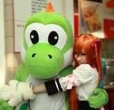 Ragazza asiatica all'Expo 17 di Londra MCM Fotografia Stock Libera da Diritti