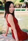 Ragazza asiatica bella fotografia stock libera da diritti