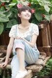 Ragazza asiatica Charming esterna Fotografia Stock Libera da Diritti