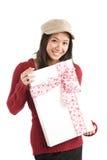 Ragazza asiatica del biglietto di S. Valentino Fotografia Stock Libera da Diritti
