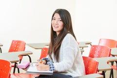 Ragazza asiatica nella classe Immagini Stock Libere da Diritti