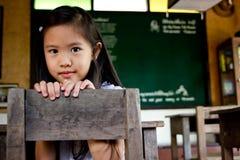Ragazza asiatica sorridente Immagini Stock