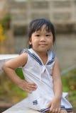 Ragazza asiatica sveglia Fotografie Stock