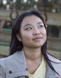 Ragazza asiatica sveglia Fotografia Stock