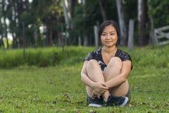 Ragazza asiatica sveglia Fotografia Stock Libera da Diritti