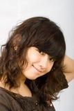 Ragazza asiatica timida adolescente Fotografia Stock