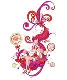 Ragazza astratta del lollipop Fotografia Stock