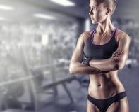 Ragazza atletica fotografia stock