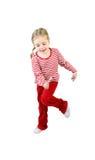 Ragazza attiva con lollypop fotografie stock