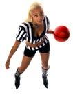 Ragazza attiva di pallacanestro immagini stock