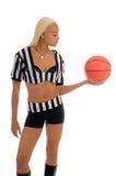 Ragazza attiva di pallacanestro Immagine Stock