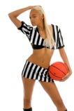 Ragazza attiva di pallacanestro Fotografie Stock