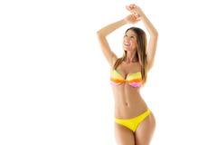 Ragazza attraente in bikini fotografia stock libera da diritti