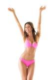 Ragazza attraente in un bikini fotografie stock