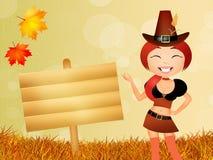 Ragazza in autunno Immagini Stock Libere da Diritti