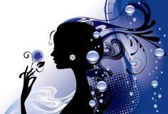 Ragazza in azzurro royalty illustrazione gratis