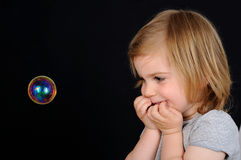 Ragazza, bambino, fascino Immagine Stock