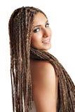 Ragazza bella con i capelli dei dreadlocks Fotografie Stock Libere da Diritti