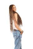 Ragazza bella con i capelli dei dreadlocks Immagini Stock Libere da Diritti