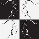 Ragazza in bianco e nero Fotografie Stock